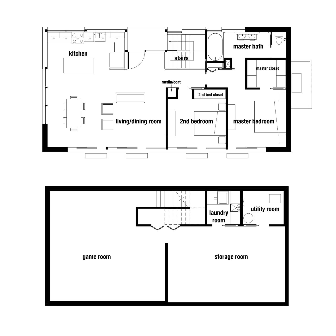 "OVERALL DIMENSION: 50'-9"" x 24'-11""   OVERALL SQ. FT.: approx. 1260 sq. ft.   GAME ROOM: 24'-1"" X 22'-11""   STORAGE ROOM: 34'-5"" X 15'-10""   CLOSET: 37 sq. ft.   LAUNDRY ROOM: 49 sq. ft.   UTILITY ROOM: 60 sq. ft."