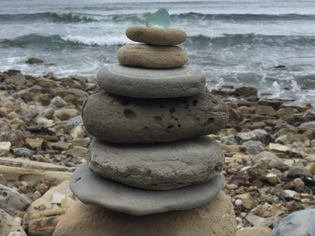 I found these rocks on a hike in Palos Verdes.  Someone else had stacked them having no idea that I would later hike that very same path and appreciate the beauty they created - it reminds me of how interconnected we all are, in ways we sometimes, don't even see.