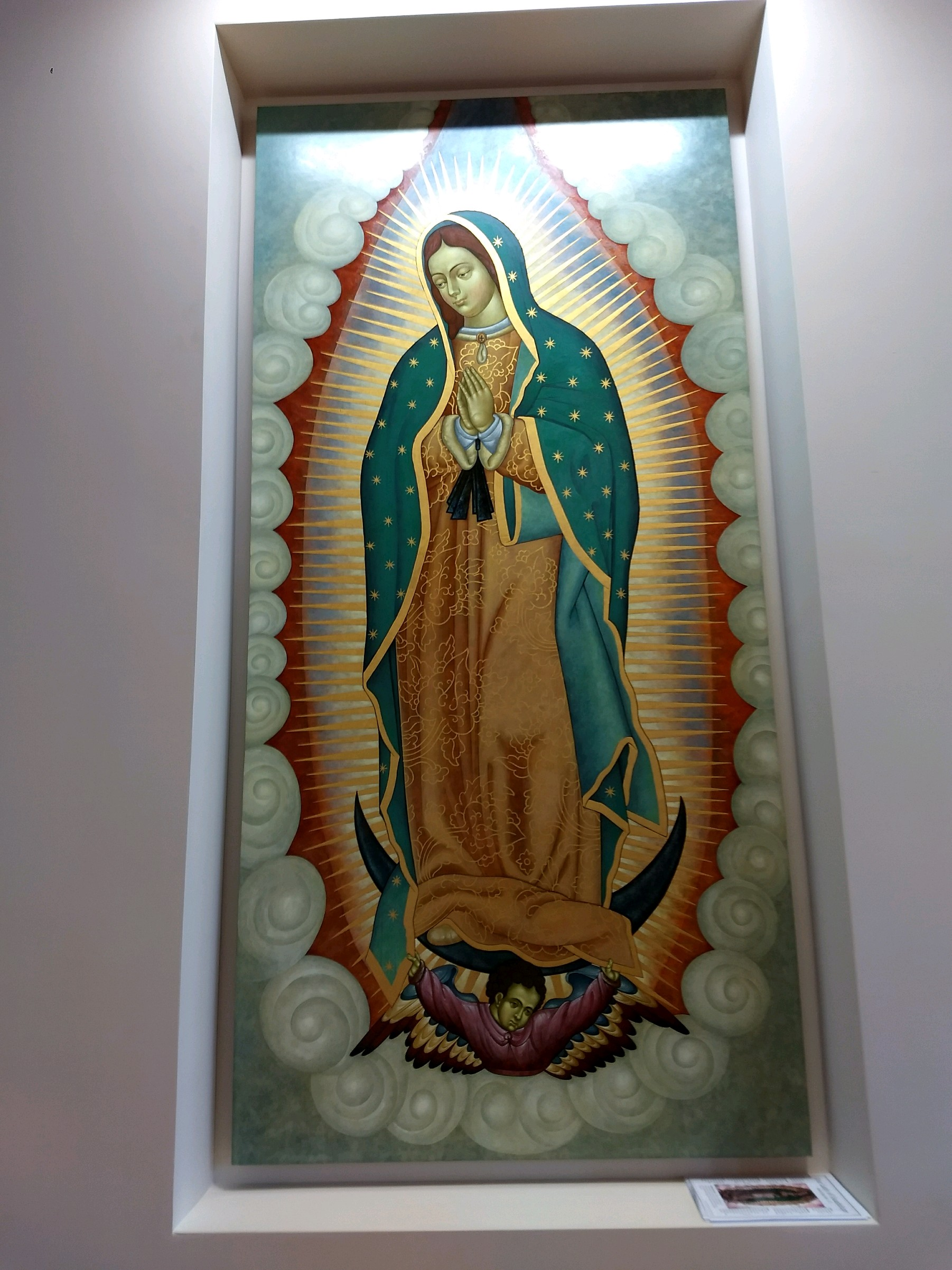 March 11  ·  Edited  ·   Our Lady of Guadalupe by a local artist. I never would've believed it, but this lady likes to show up and make people smell roses, or have random roses show up in places like straight out of the ocean. Pretty interesting story if you've never heard it. I hadn't until after we started getting multiple signs involving roses.