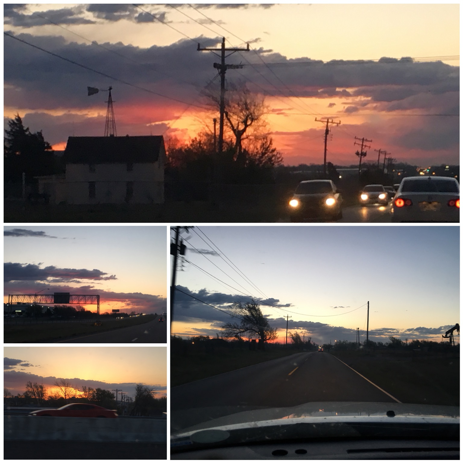 We had a VERY busy day planned so I left a little earlier than usual. Oklahoma may have wind sweeping down the plains but the skies make up for some of its neurotic behavior. Also, Ken Toey , that vroom vroom reminded me of a certain one you carry in your pocket.