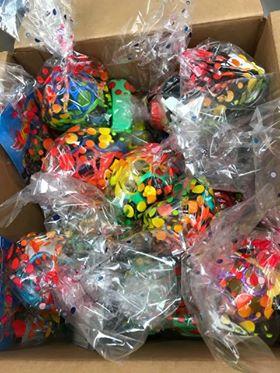 Bags of vroom vrooms for children at  Inova Fair Oaks Hospital .