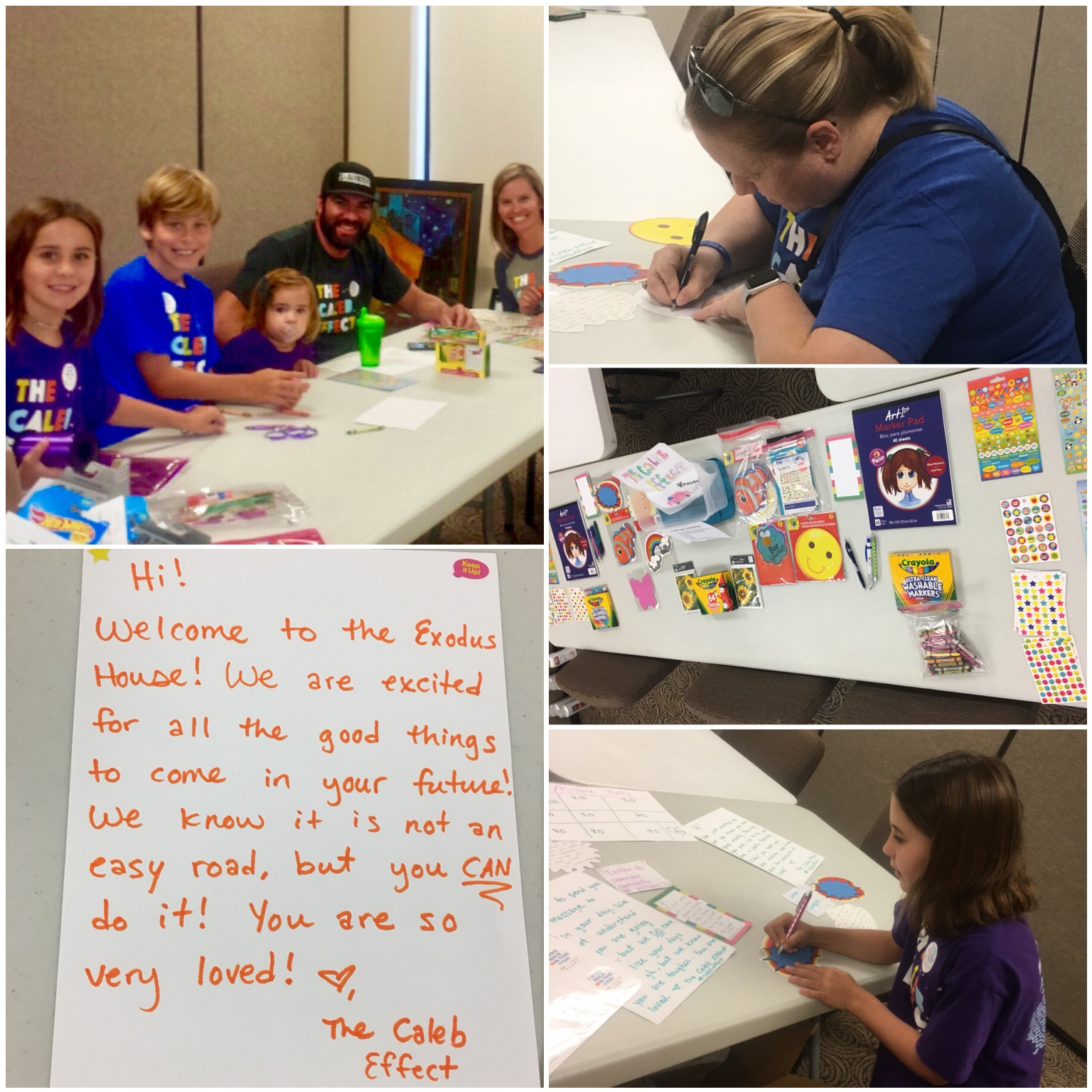 We had a letter and picture making party! — with Christine Burk ,  Rose Lindo ,  Thomas Lundy  and Kara Walk .