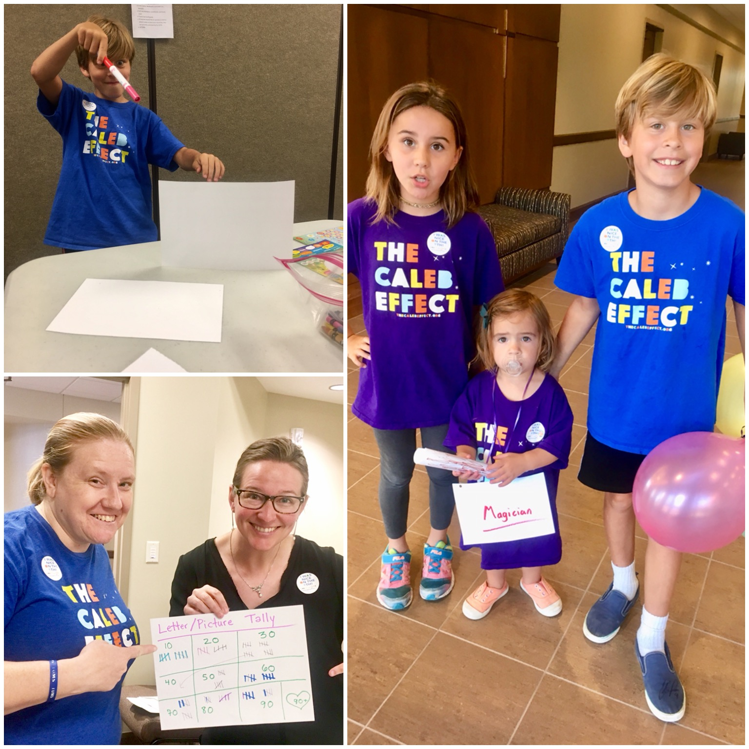 With the help of the littlest magicians, our goal of at least 91 pictures and letters to honor each year of Grandma's life was met!! — with  Kara Walk , Harry Hophead ,  Candace Fish ,  Thomas Lundy  and  Christine Burk .