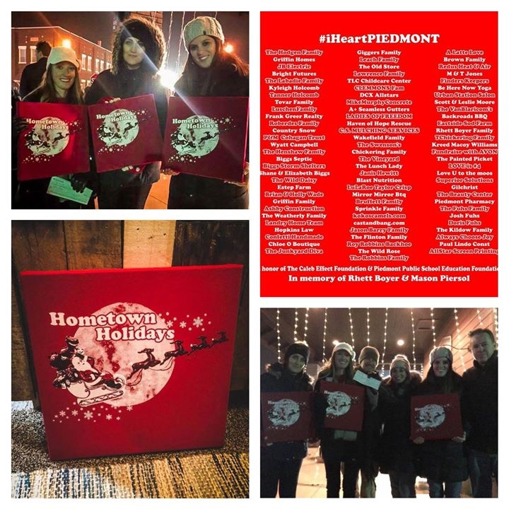 #iHeartPiedmont 's Hometown Holidays which presented The Caleb Effect Foundation a check for $1200 from their t-shirt fundraiser! Thank you to everyone who made this a success!