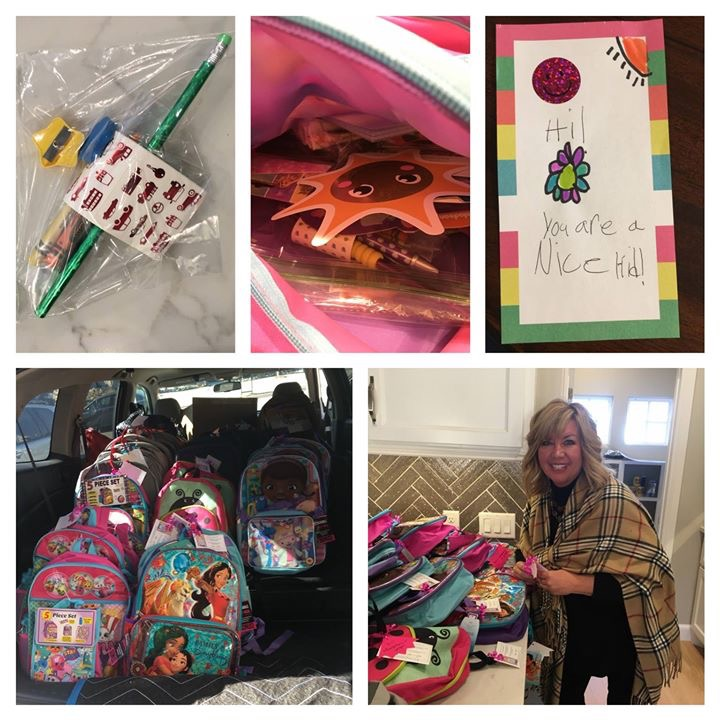 We had fun at our bag stuffing party! — with  Robin Feuerborn  and  McCaleb Homes .