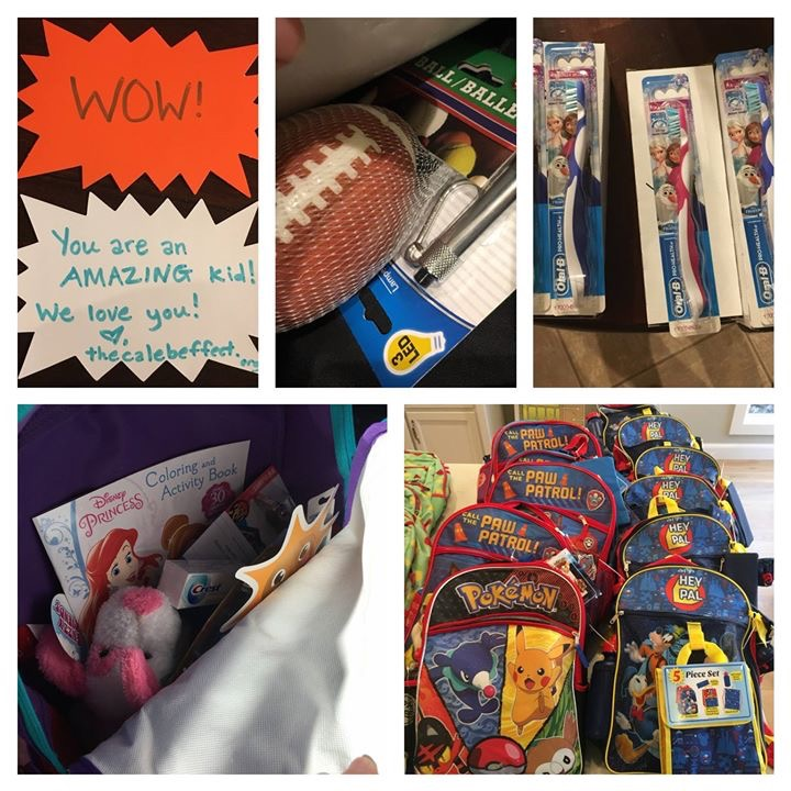 Each bag was stuffed according to the child's age. We hope they like them. Thank you,  Willingham and Reiter, D.D.S. ! — with  McCaleb Homes .