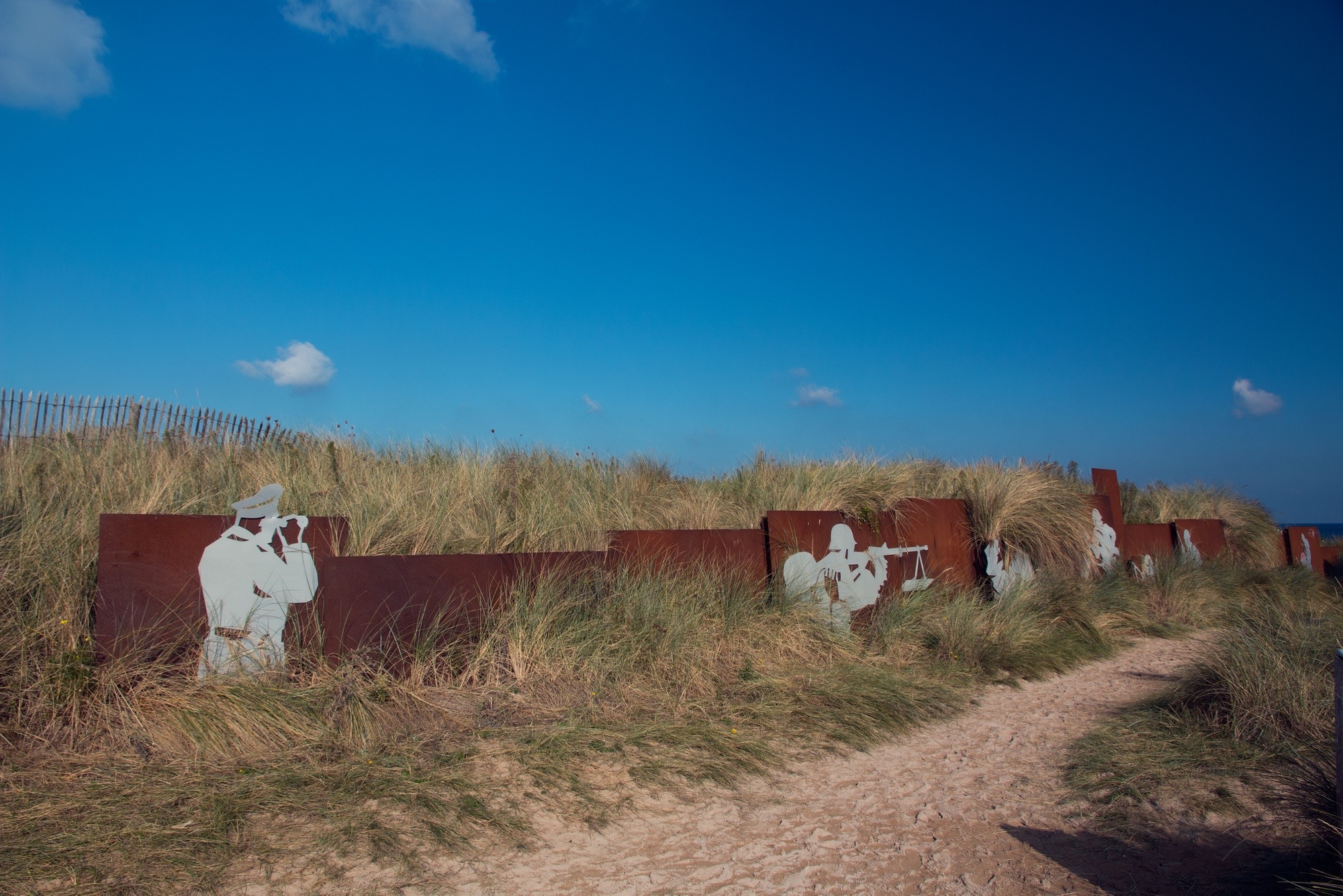 Hidden amongst the dunes,  Courseulles-sur-Mer, France.