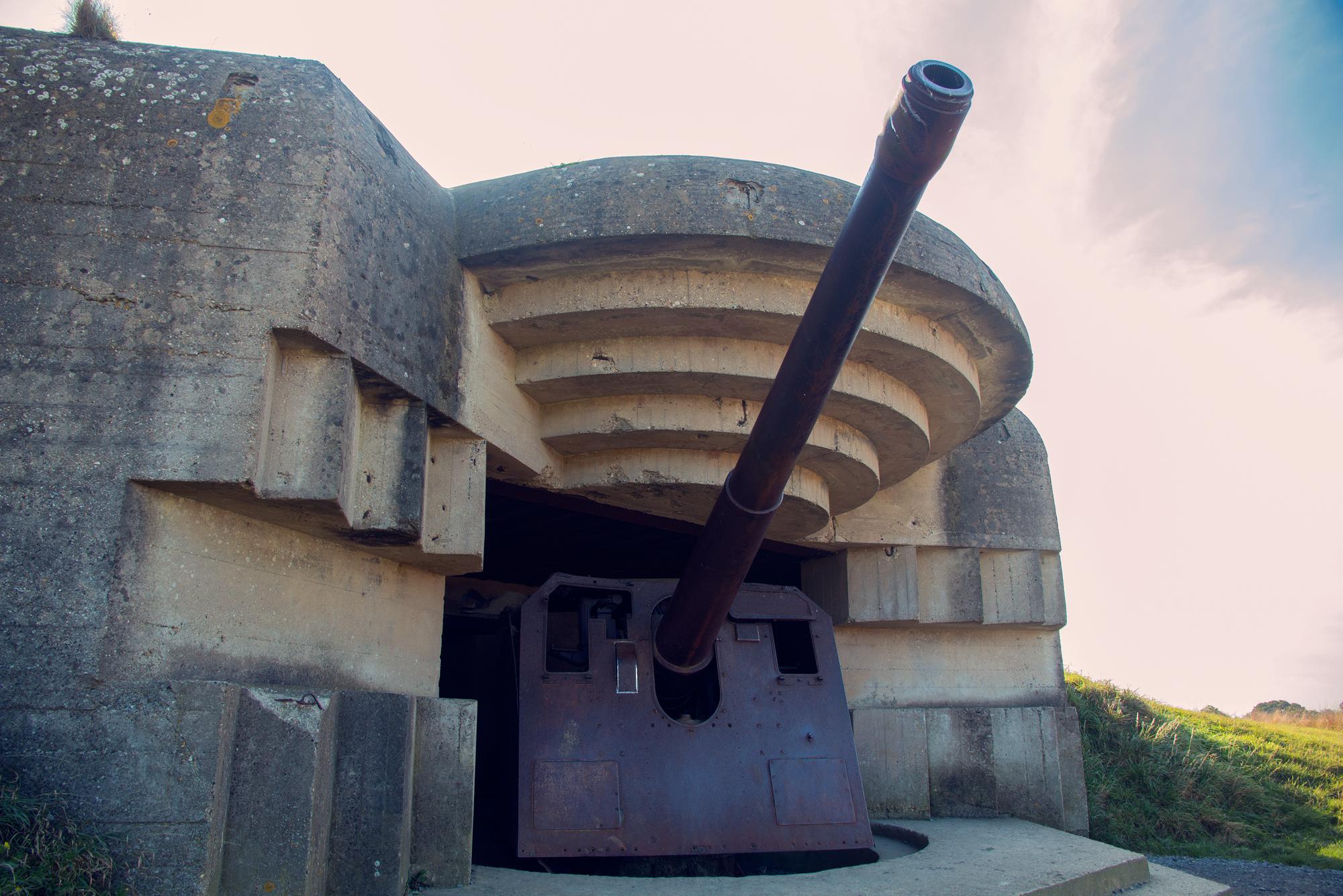 Nazi War Facility,  Longues-sur-Mer, France.