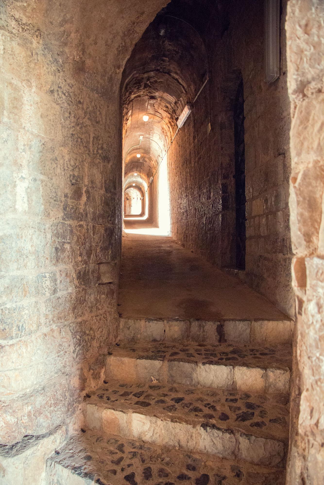 The tunnels behind the Roman Amphitheatre, Sagunt.