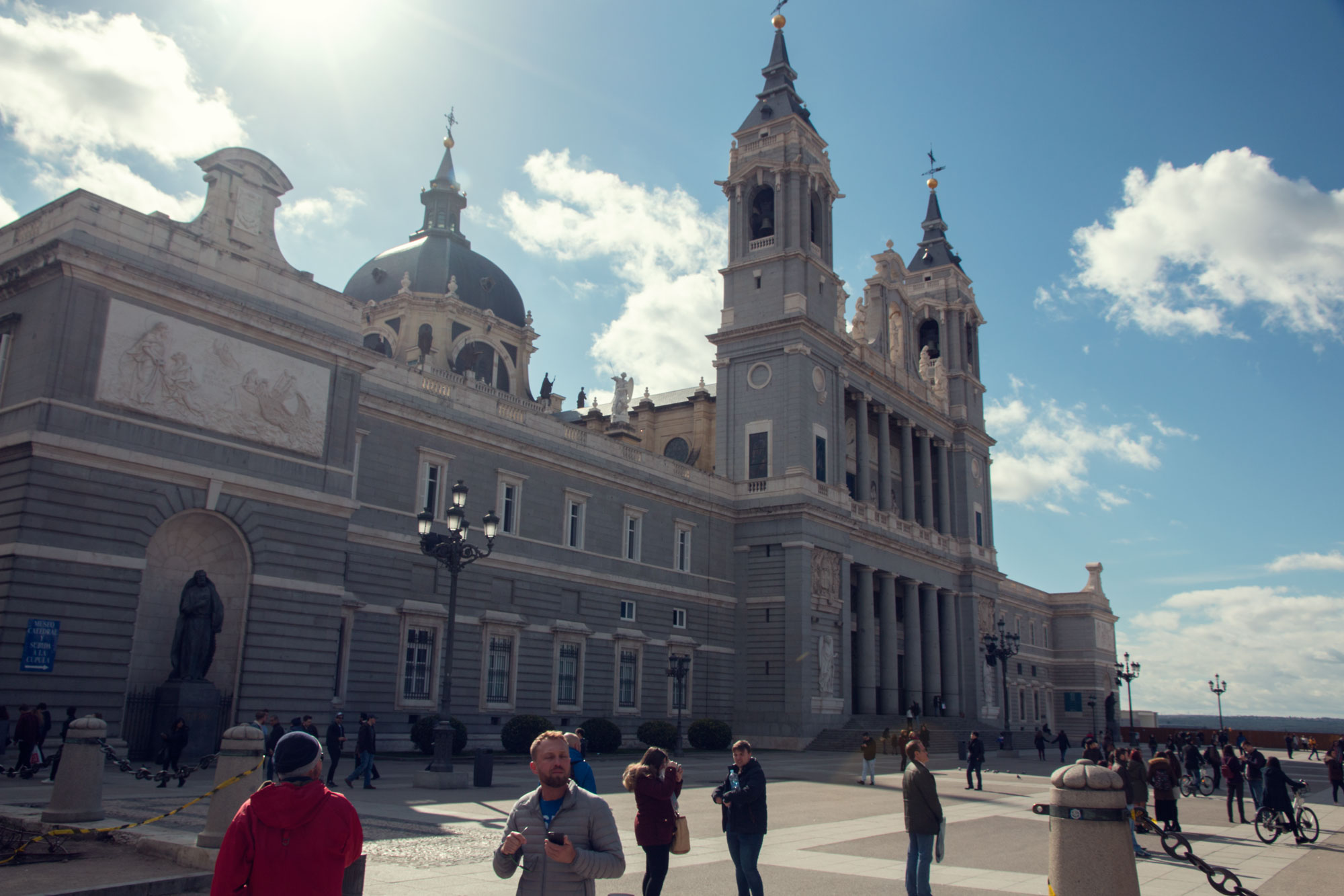 Madrid's Catedral de la Almudena, opposite the Royal Palace.