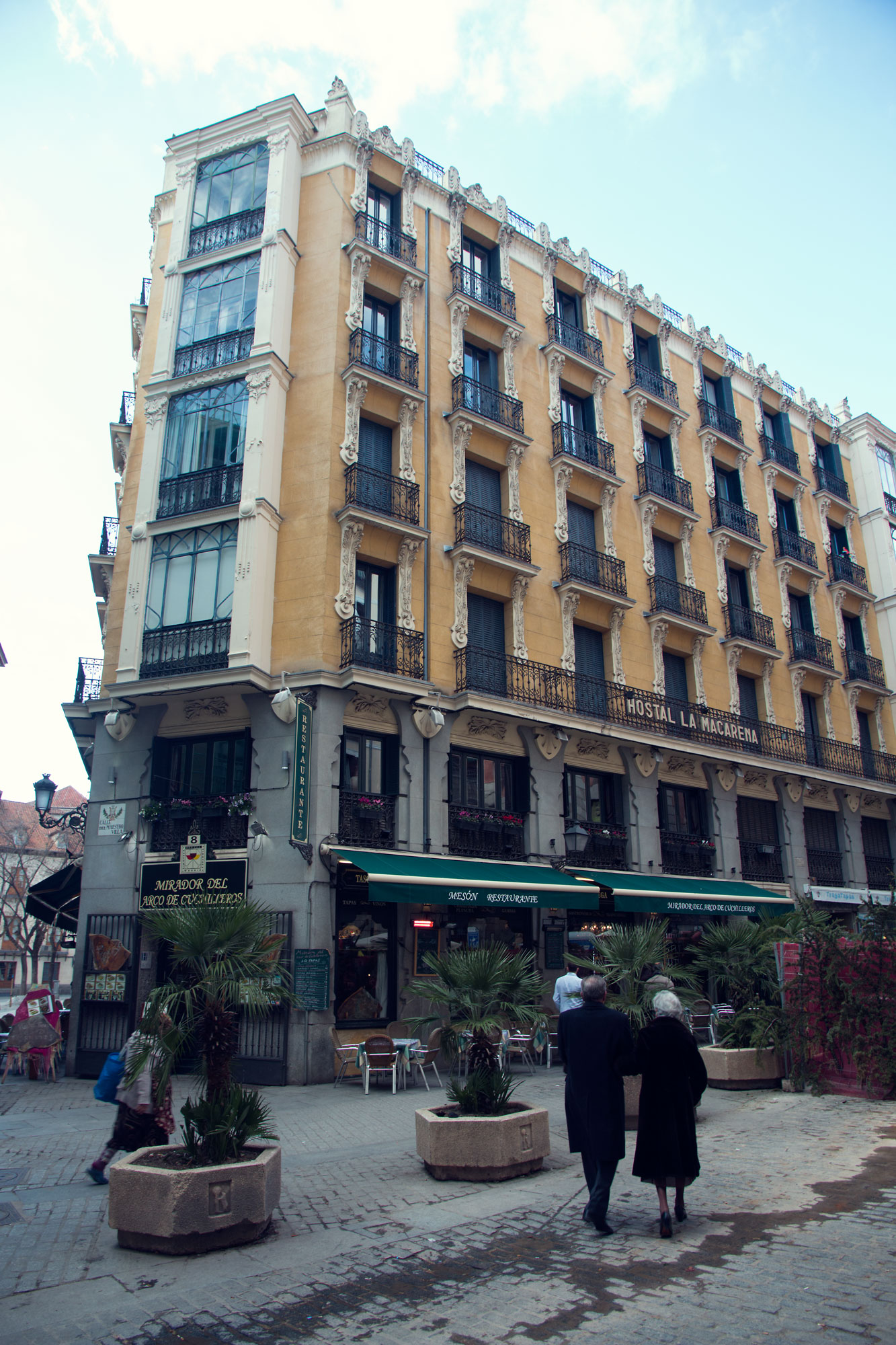 The buildings on the outskirts of Plaza Mayor, Madrid.