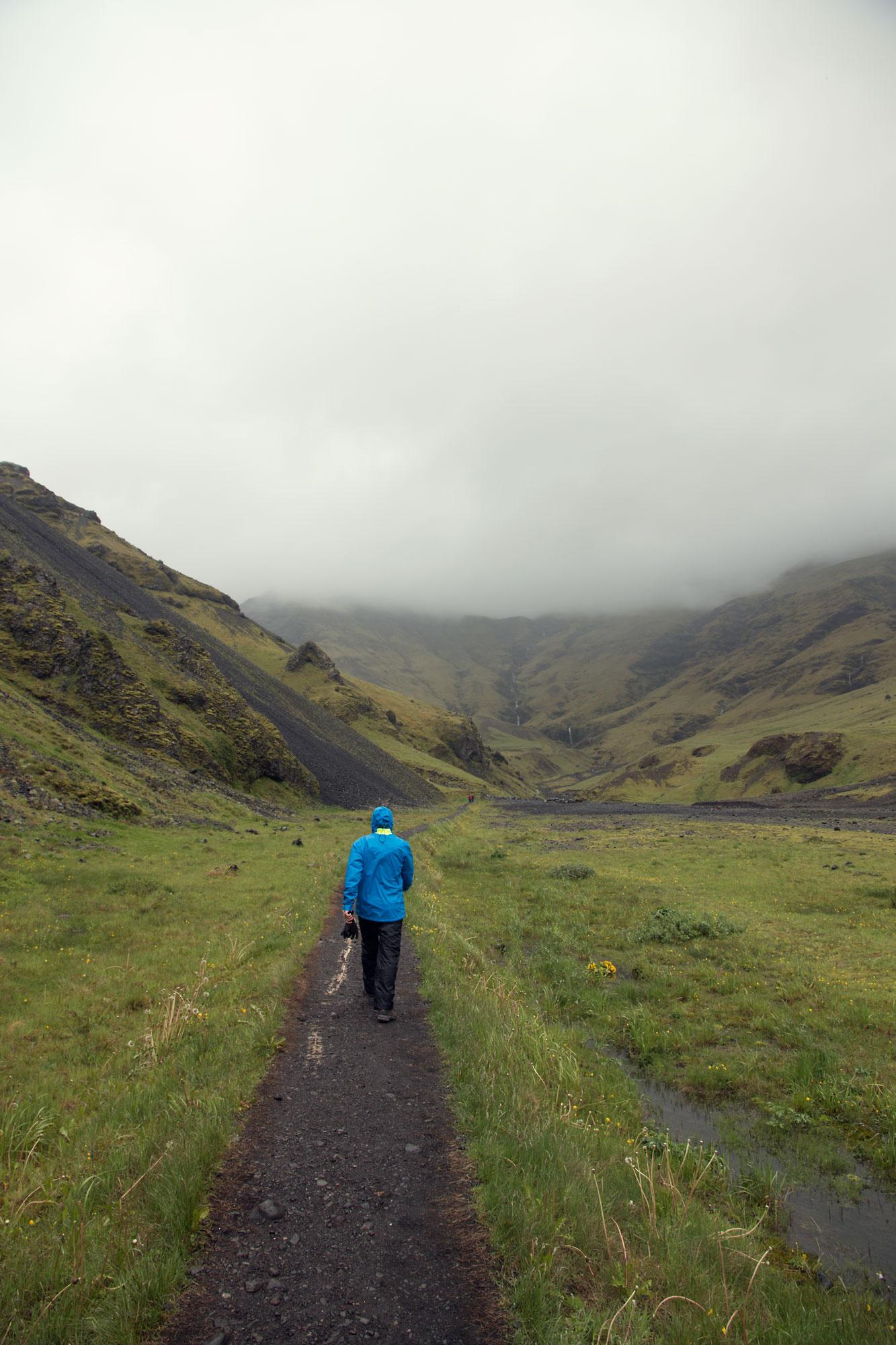 The walk to Seljavallalaug Pool