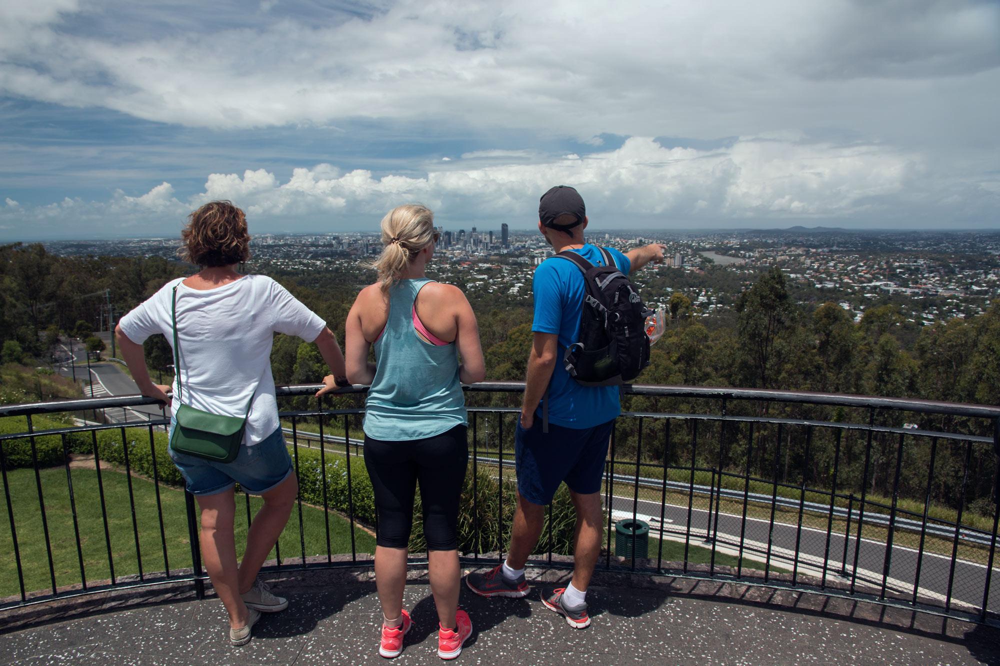 Brisbane from Mt. Coot-Tha