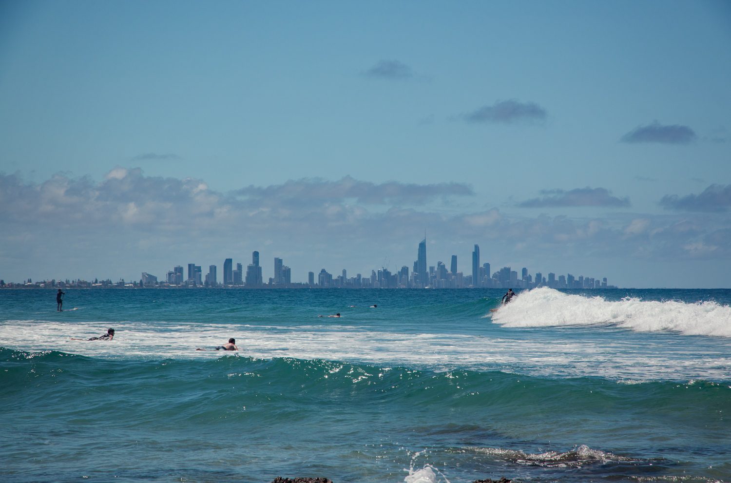 Surfers Paradise from Coolangatta