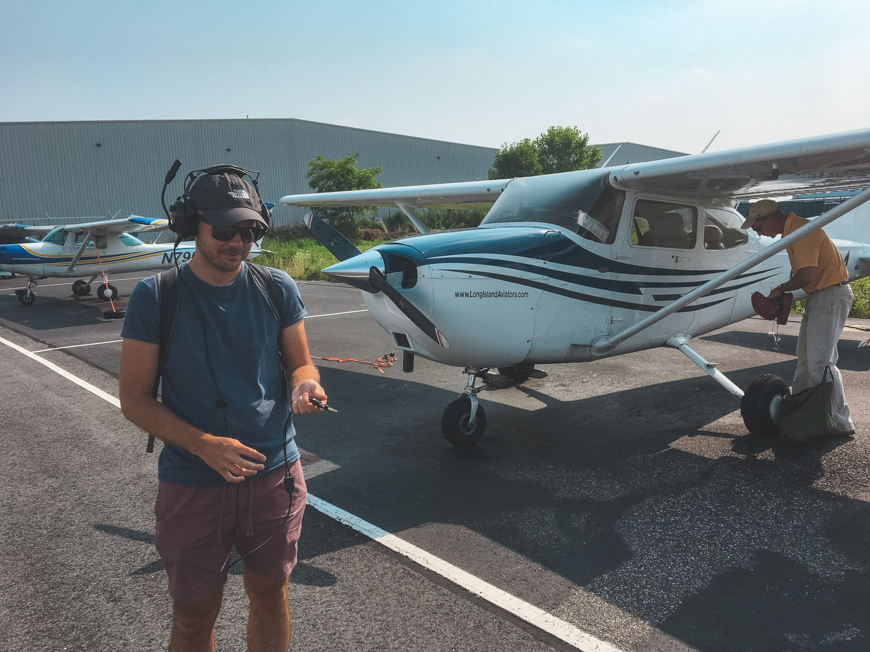 Flying to Montauk.
