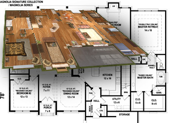 Your Floor Plans   We take PDFs or printed blueprints and build each of your homes inside and out. Every room looks exactly the way it would in real life!