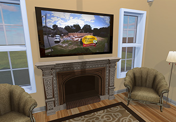 Your Marketing   We have instances inside the VR homes (videos playing, for example) where additional marketing can be done. We allow our homebuilders to decide what the videos display. Run your own marketing video or one of your vendor's videos.