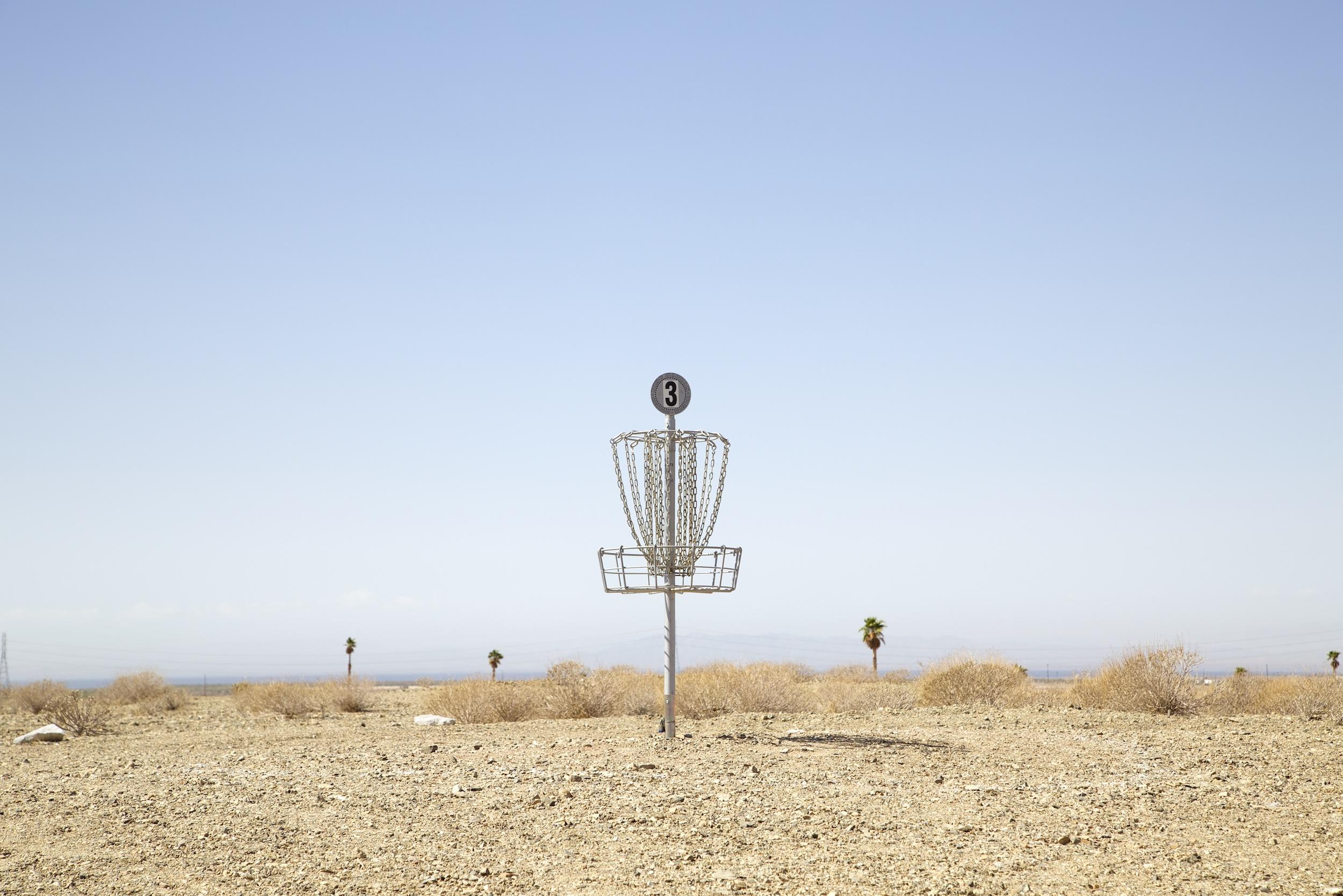 Disc Golf, Salton Sea, California,  2014