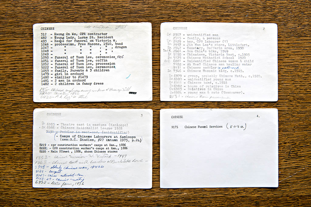 """""""Chinese"""" Index Cards, 2016"""