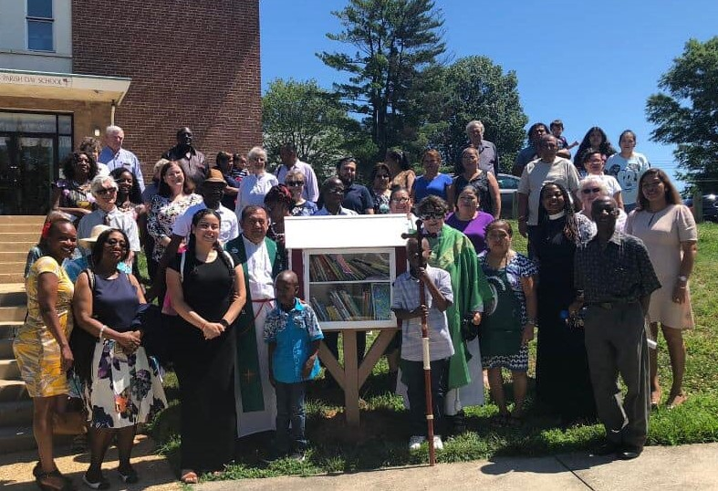 Dedication of our Little Free Library, June 30, 2019