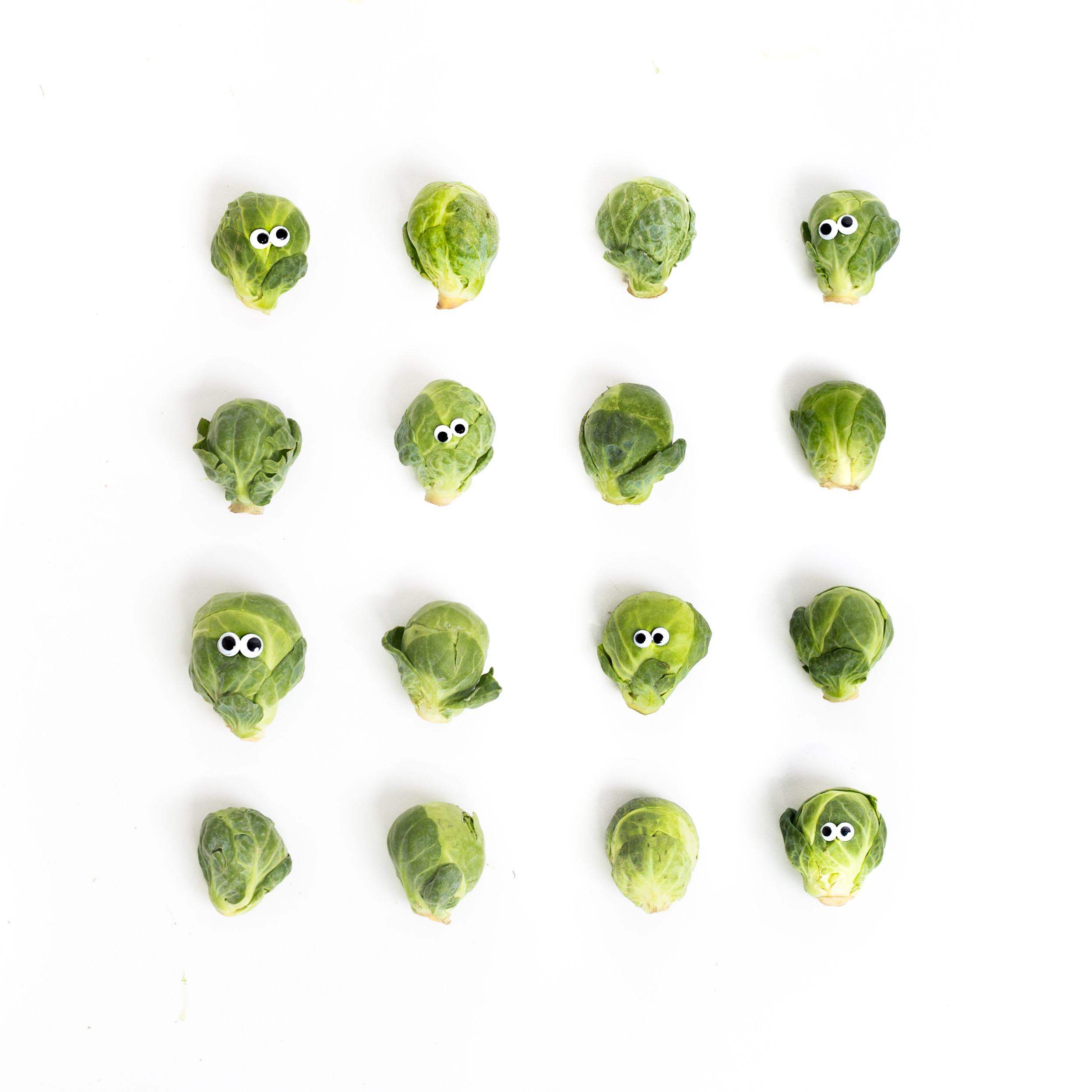Don't worry. The Brussels Sprouts in your box won't have eyes!