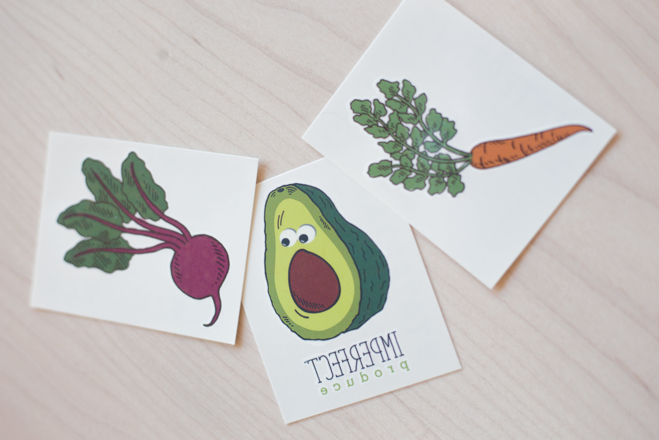 We encouraged all of our guests to take home a vegetable temporary tattoo from Tater Tats as a souvenier!