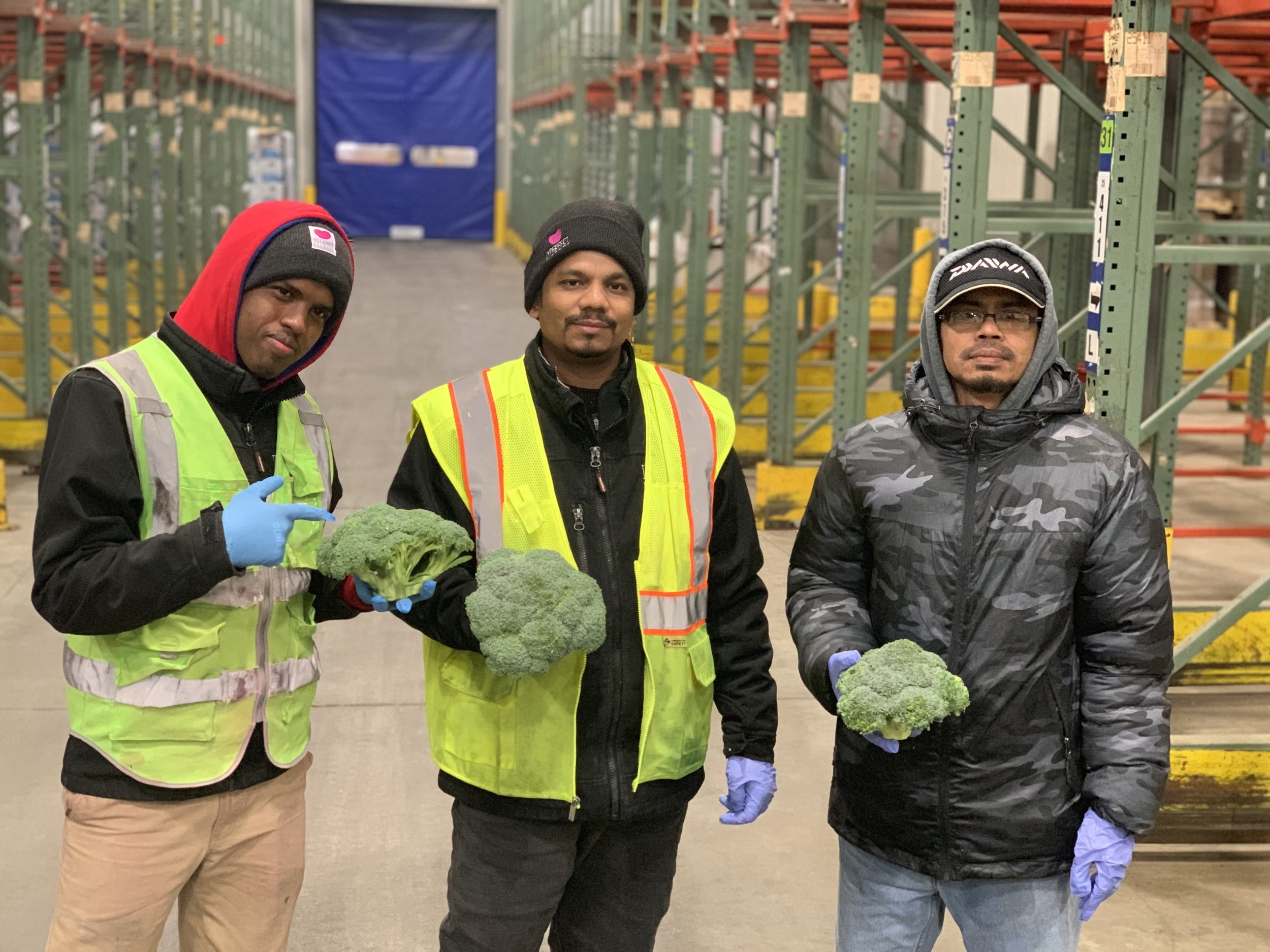 From left to right: Mohamed, Rafiq, Zakaria in our Chicago Warehouse