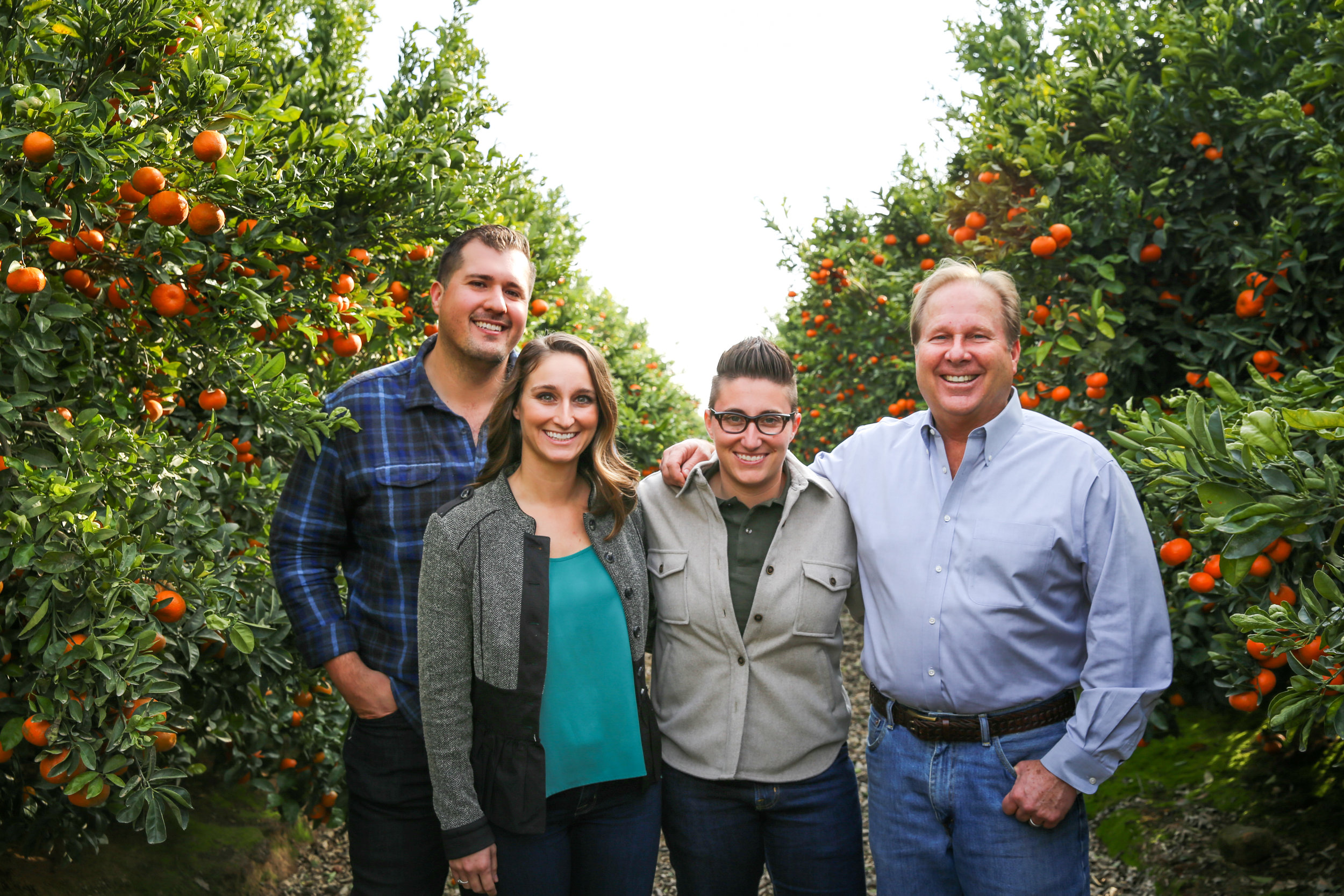 The family and team behind Fruit World (left to right): CJ Buxman, Angelica Kaprielian, Bianca Kaprielian, Craig Kaprielian