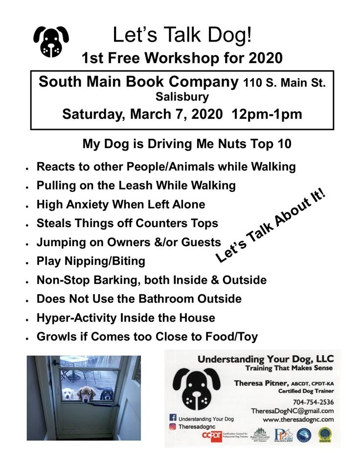 Free Workshop  - Understanding Your Dog with Theresa Pitner!