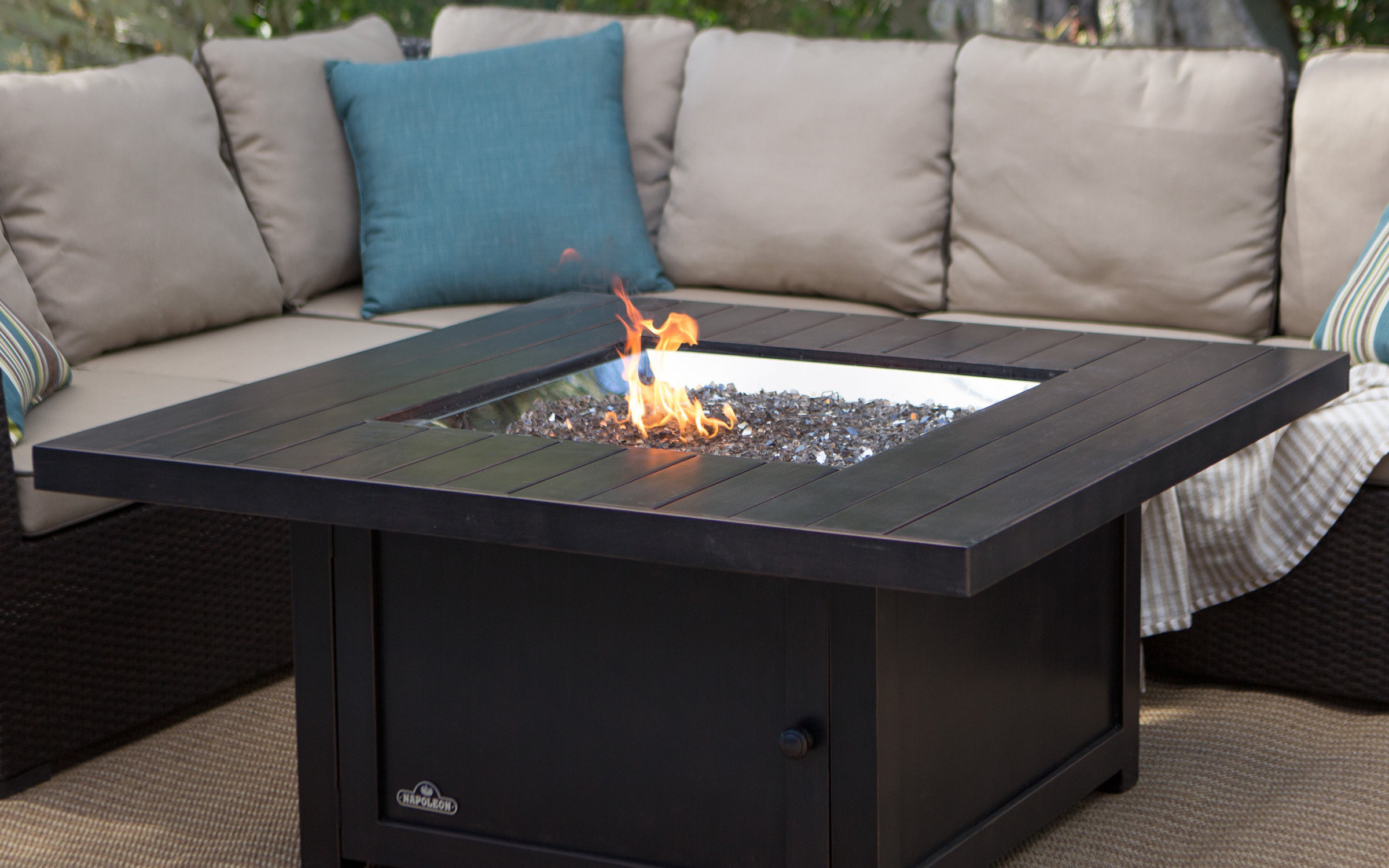 Outdoor Square Fire Pit Acrylic | iFurnish, Frisco, CO