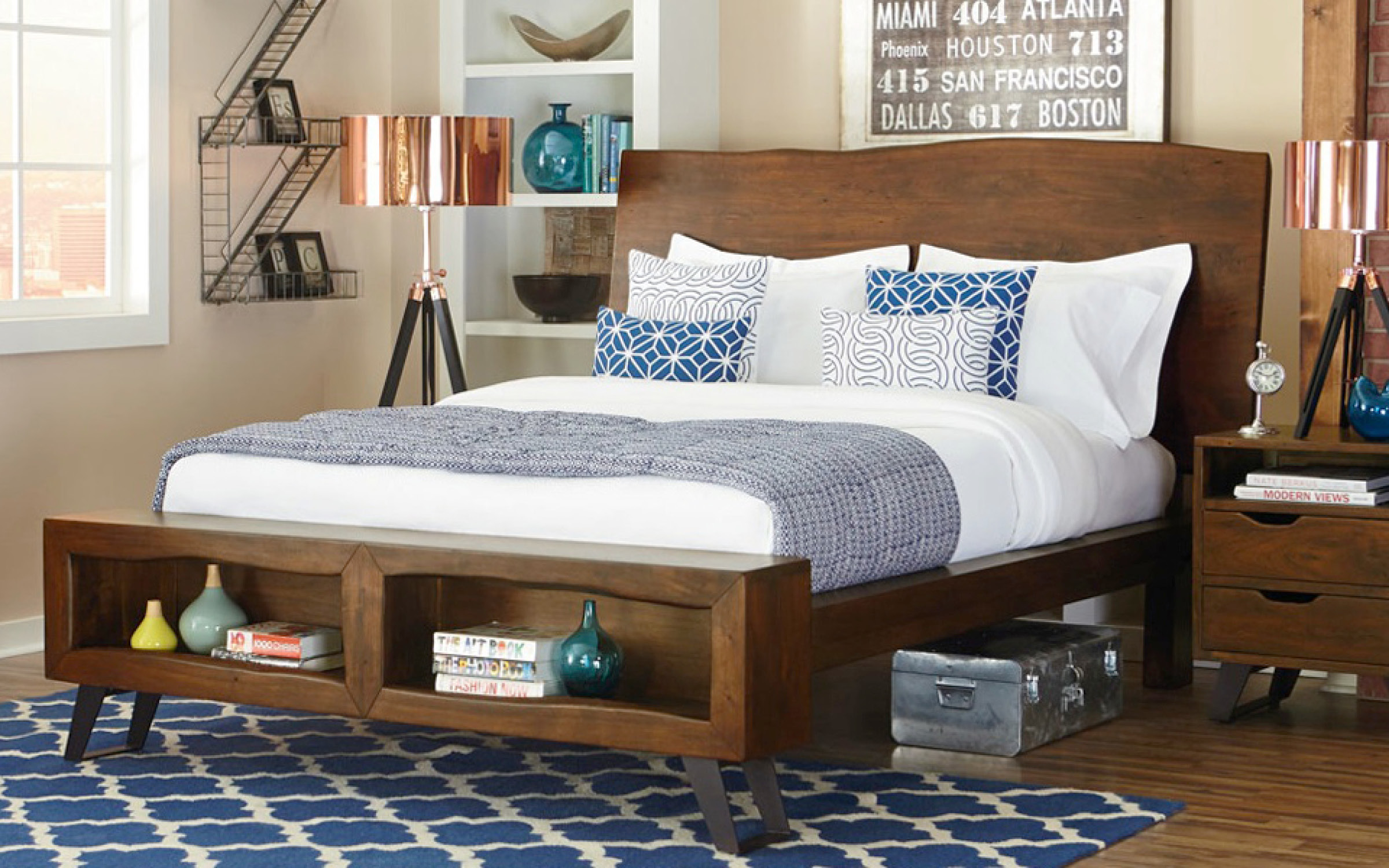 Home Trends & Design Rustic Wood Bedframe | iFurnish, Frisco, CO