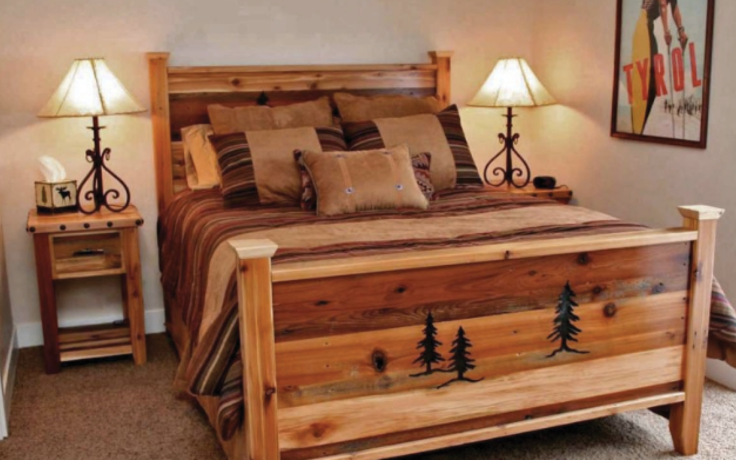 Rustic Mountain Wood Bed | iFurnish, Frisco, CO