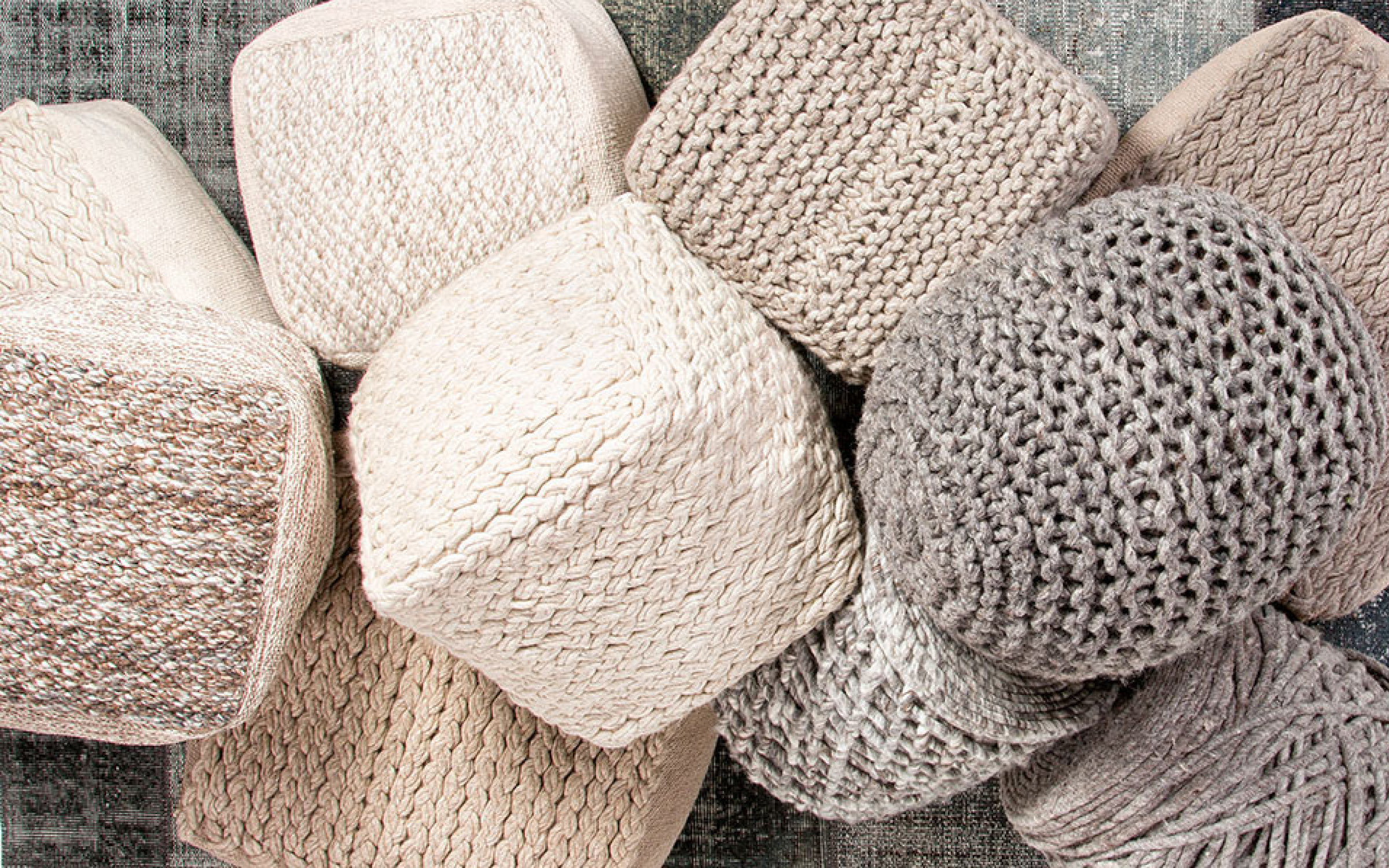 Knit and Woven Poufs Decor Accents | iFurnish, Frisco, CO