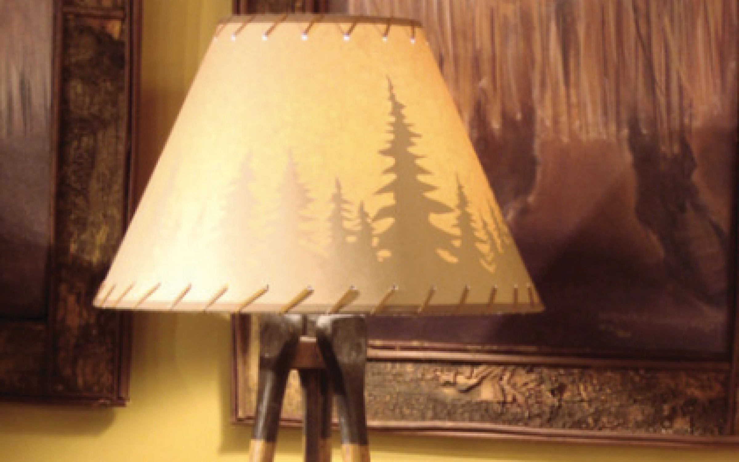 Rustic Table Lamp Paddle Tree Lamp Shade Mountain | iFurnish, Frisco, CO