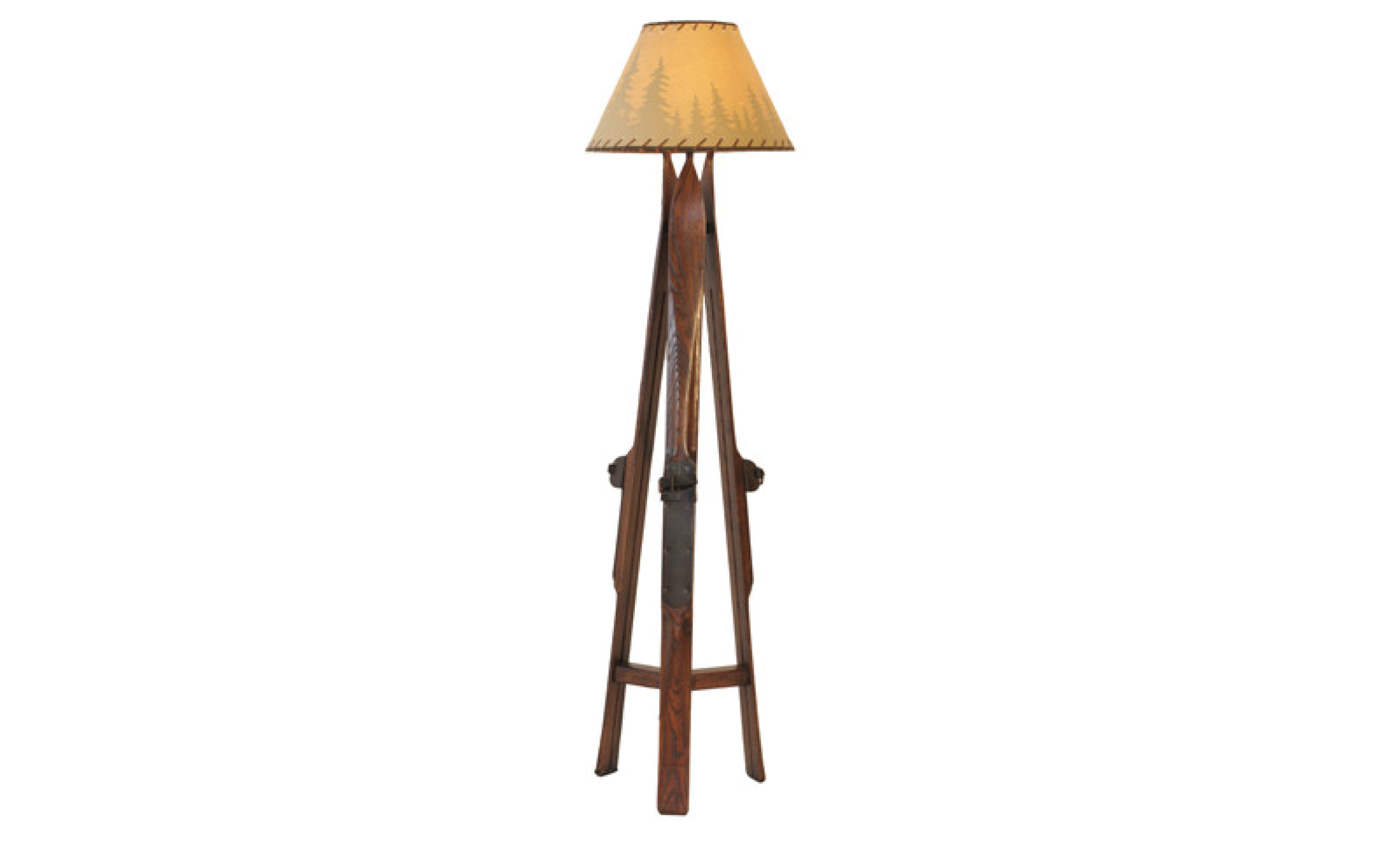 Mountain Rustic Ski Floor Lamp  | iFurnish, Frisco, CO
