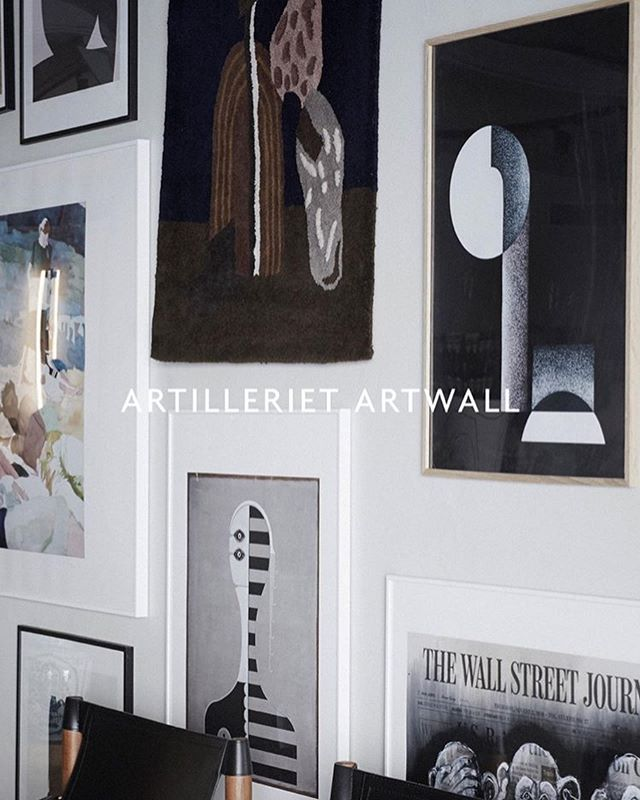 Stas å være en del av Artilleriet Artwall i typ verdens fineste @artillerietstore 👌🏼❤️ Takk! . Bauhaus 2.0 // 50x70cm