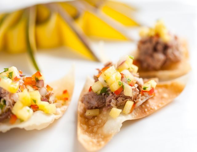 Duck Confit with Mango Salsa