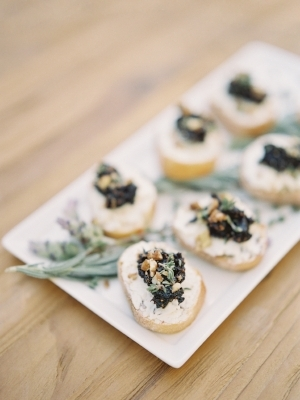 Fig Jam & Goat Cheese Crostini   taken by Heather Payne