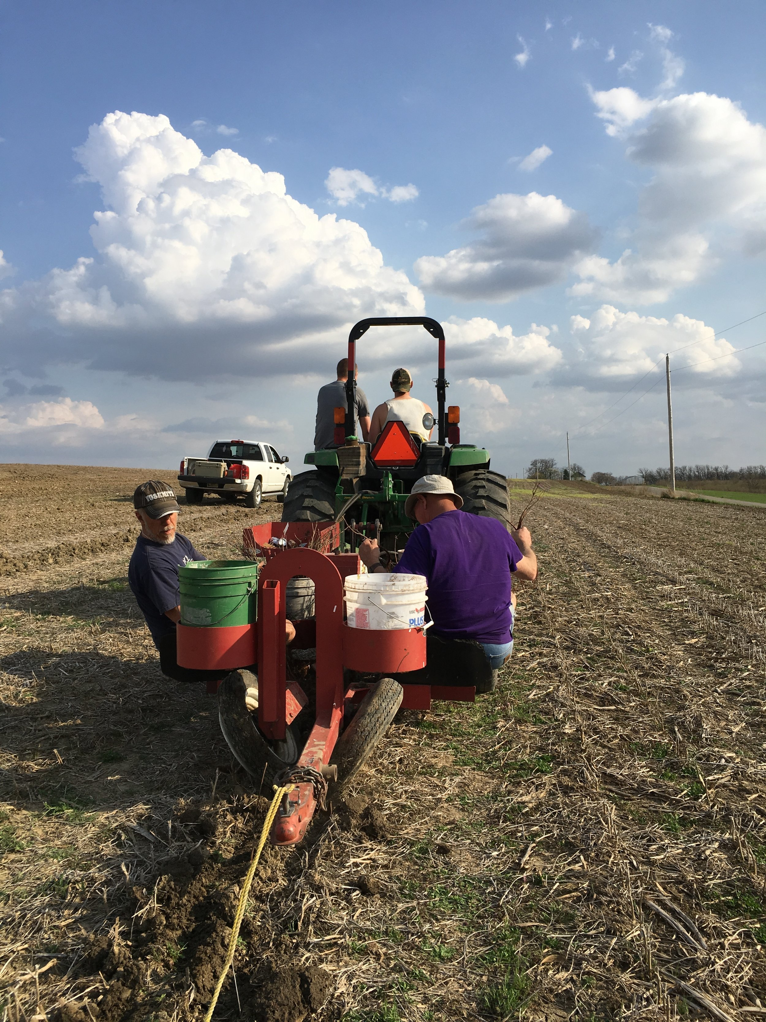 The Pheasants Forever tree planter came in handy for getting the 1,400 trees and shrubs into the ground. This implement made short work of our windbreak establishment.