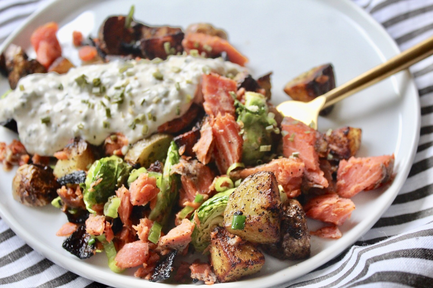 Salmon Breakfast Hash