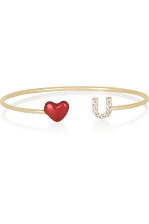 ALISON+LOU+Love+U+14-karat+gold,+diamond+and+enamel+cuff.jpg
