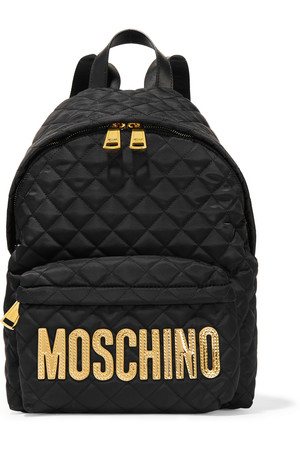 MOSCHINO+Faux+leather-trimmed+quilted+shell+backpack.jpg