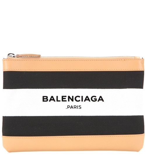 BALENCIAGA+Navy+Clip+Small+leather-trimmed+printed+clutch.jpg