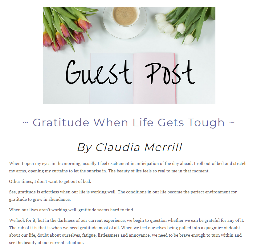 Gratitude When Life Is Tough | The Gratitude Butterfly
