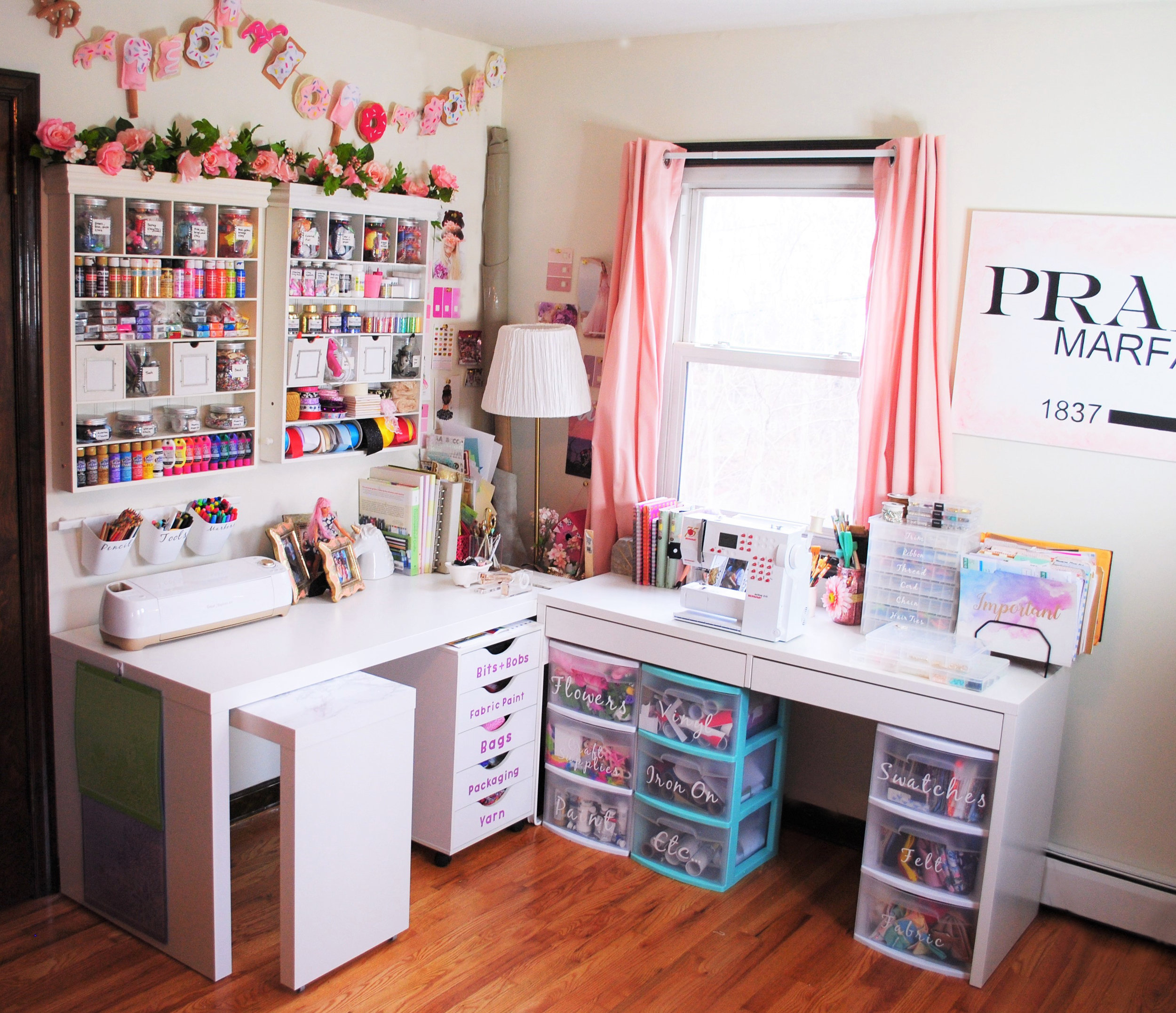 So there you have it, - the official tour of my craft room! I have really poured my heart and soul into creating this area where I can embrace every crazy idea that pops into my head, so I really hope you enjoyed seeing all of the fun little details in this post.