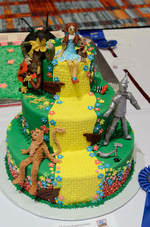 Wizard of Oz Cake- 3 tiers with edible sculpted figures