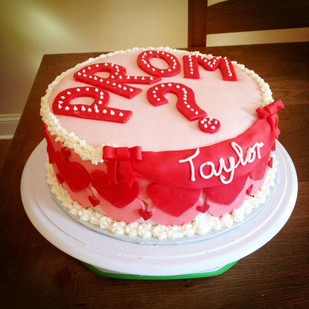 Custom cake for a Promposal