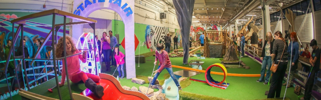 Drinks and Mini Golf at Can Can Wonderland