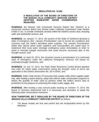 Resolution No. 14-226