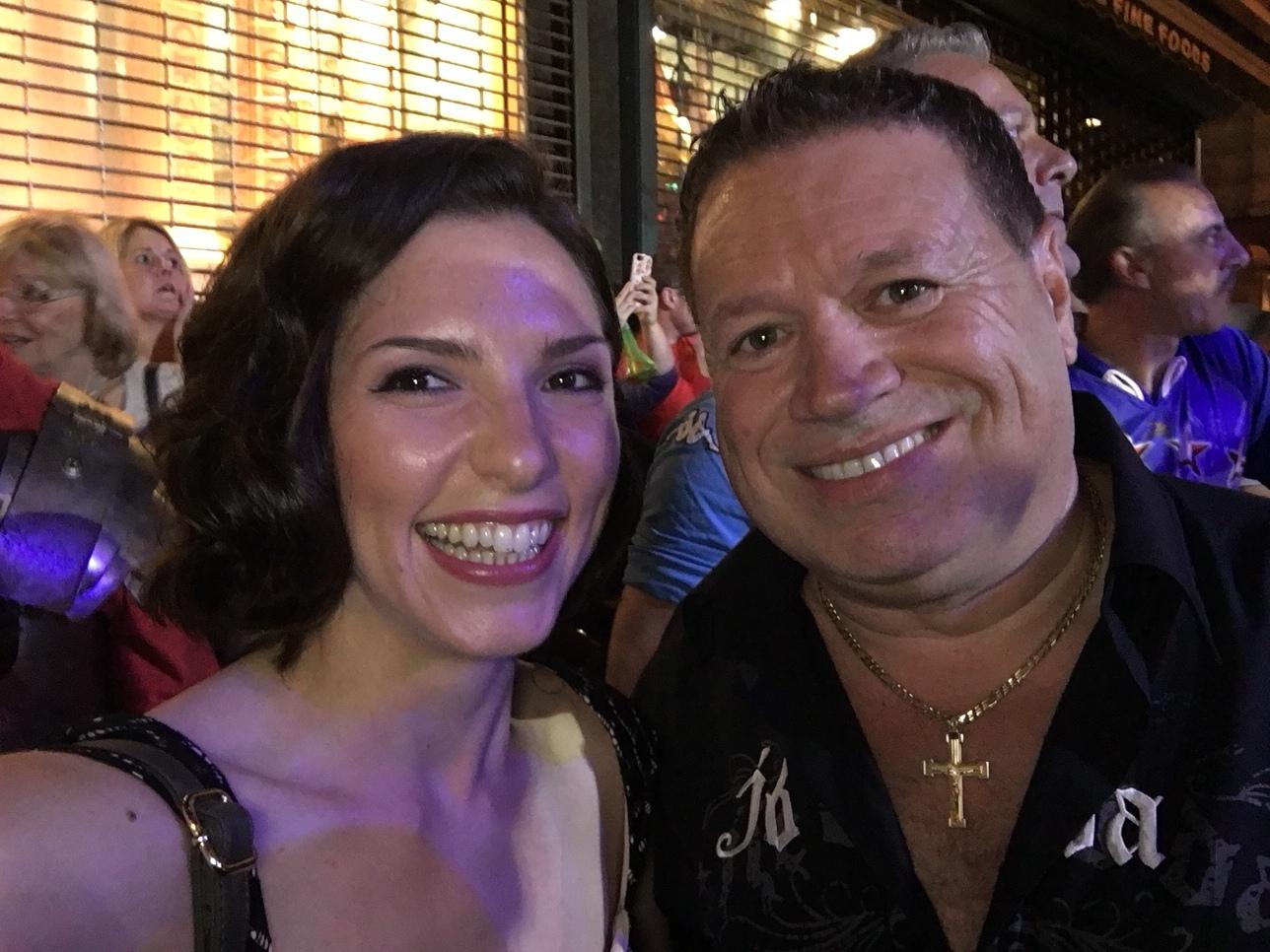 With Angelo Vinuto at San Gennaro NYC.